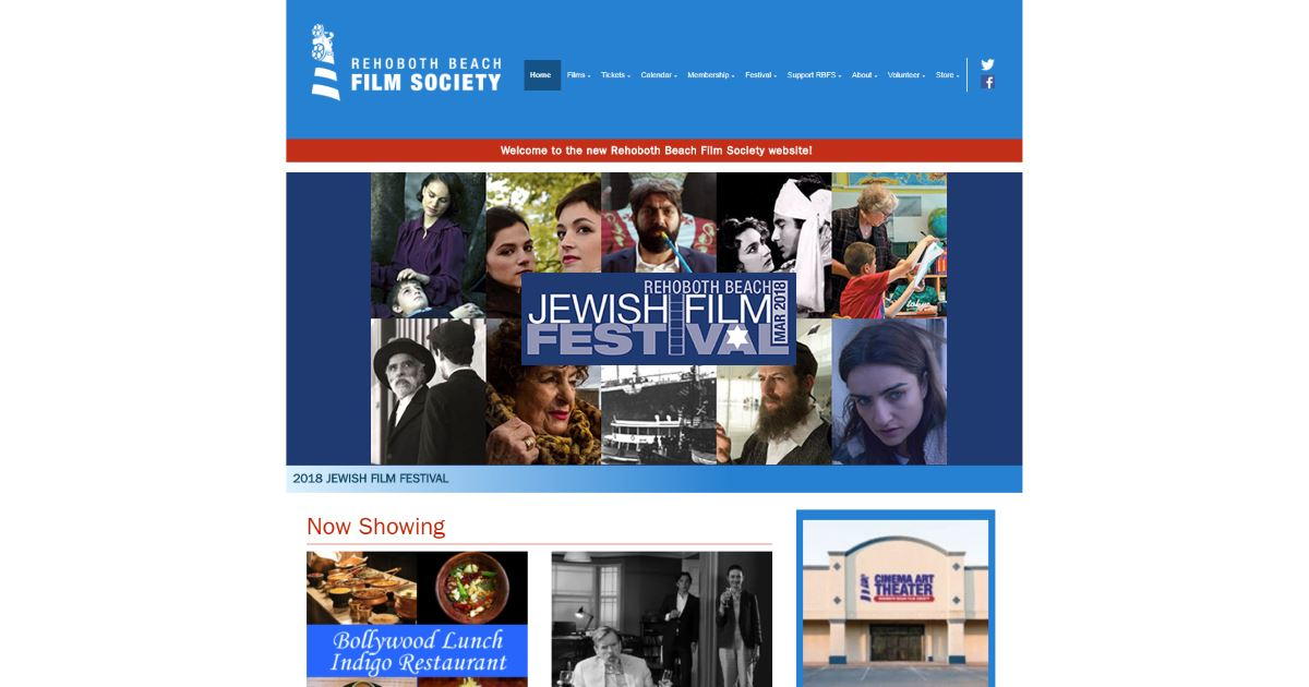 Now Showing • Rehoboth Beach Film Society
